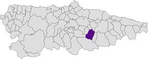 Pola De Laviana Mapa.Localizacion Ayuntamiento De Laviana